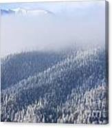 Foggy Peak Canvas Print