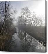 Foggy River Canvas Print