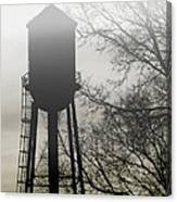 Foggy Tower Silhouette Canvas Print