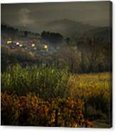 Foggy Tuscan Valley  Canvas Print