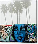 Foggy Venice Beach Canvas Print