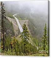 Foggy View From Icefields Parkway Canvas Print