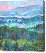 Foggy View From Mill Mountain Canvas Print