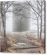 Foggy View Of The Summit Of Mount Battie Canvas Print