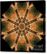 Folded 8-pointed Kaleidoscope Image Canvas Print