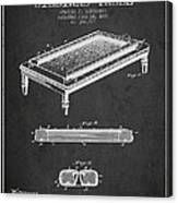 Folding Billiard Table Patent From 1887 - Charcoal Canvas Print