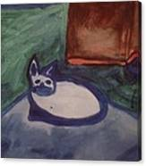 Folk Art Cat Canvas Print
