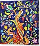 Folk Tree Canvas Print