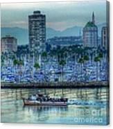 Follow That Boat Canvas Print
