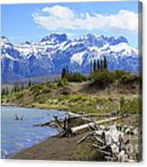 Following The Athabasca River Canvas Print