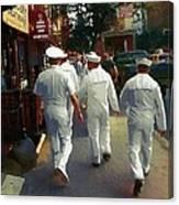Following The Fleet Canvas Print