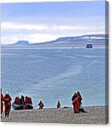 Following The Footsteps Of  Roald Amundsen.. Canvas Print