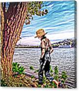 Following The River Canvas Print