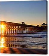 Folly Beach Pier At Sunrise Canvas Print