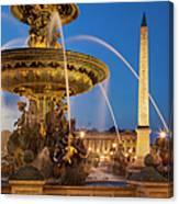 Fontaine Des Mers Canvas Print