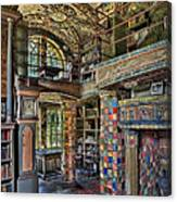 Fonthill Castle Library Room Canvas Print