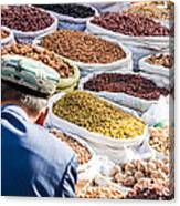 Food At Local Bazaar - Kashgar - China Canvas Print