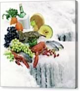 Food On Ice Canvas Print