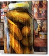 Food - Vegetable - A Jar Of Pickles Canvas Print