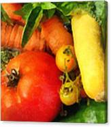 Food - Vegetable Medley Canvas Print