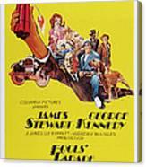 Fools Parade, Bottom L-r James Stewart Canvas Print