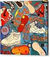 Foot Print Zone  Canvas Print