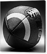 Football Black And White Canvas Print