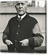 Football Coach Alonzo Stagg Canvas Print