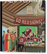 Football Fans Invite People Over For Thanksgiving Canvas Print