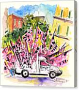 Football Flags From Palermo Canvas Print