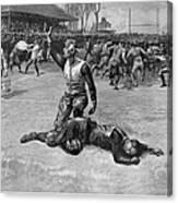 Football Injury, 1891 Canvas Print