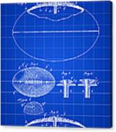 Football Patent 1902 - Blue Canvas Print