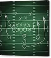 Football Play Canvas Print