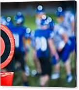 Football Sideline Marker Canvas Print