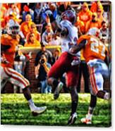 Football Time In Tennessee Canvas Print