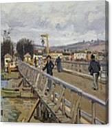 Footbridge At Argenteuil Canvas Print