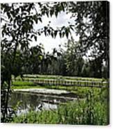 Footbridge To The Steamboat Landing Canvas Print