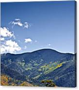 Foothhills Of The Sandia Mountain Range New Mexico Usa Canvas Print