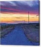 Foothill Sunset Canvas Print