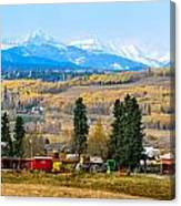 Foothills' Farming Country Canvas Print
