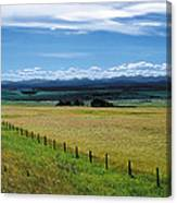 Foothills Of The Rockies Canvas Print