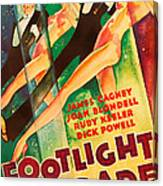 Footlight Parade, Dick Powell, Joan Canvas Print