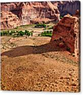 Footprints In The Sand  Canyon Dechelly Canvas Print