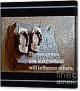 Footprints Left Behind Canvas Print