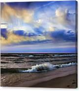 Footprints Of A Surfer Saugatuck Michigan Canvas Print