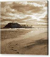 Footsteps In The Sand Canvas Print