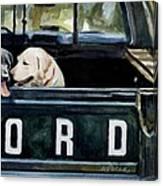 For Our Retriever Dogs Canvas Print