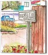 For Sale Sign In Goleta Beach, California Canvas Print