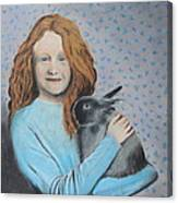 For The Love Of Bunny Canvas Print