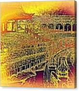 Forbidden City In Gold Canvas Print